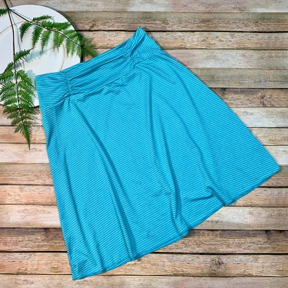 Tranquility Dresses & Skirts - Tranquility Skirt Medium Blue Athletic Striped